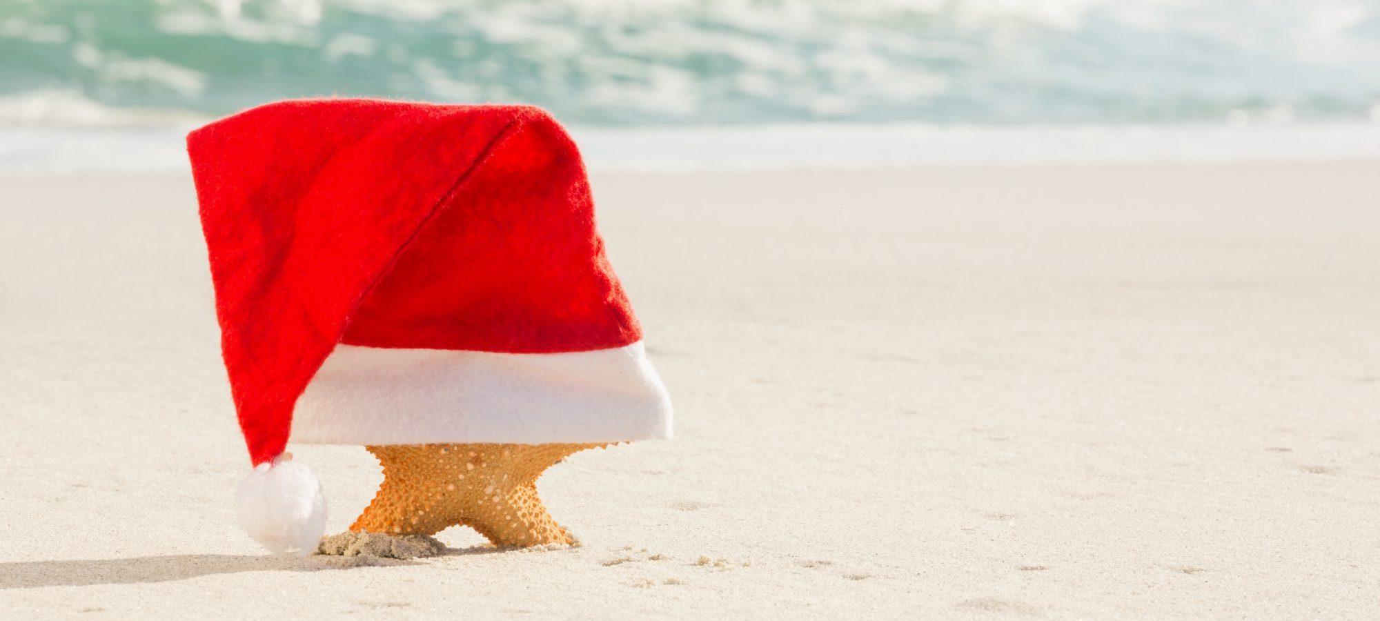 kerst in juli strand