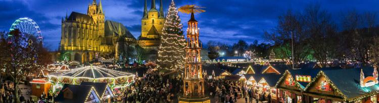 Erfurt Kerstmarkt overzicht