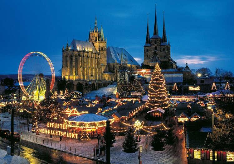 erfurt kerstmarkt uitzicht