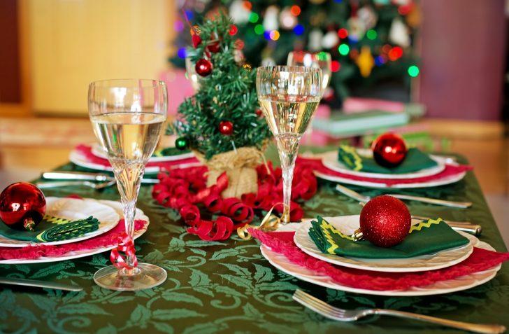 Gedekte kerst tafel