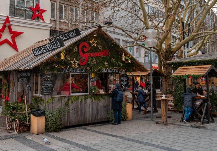 Kerstmarkt kraam