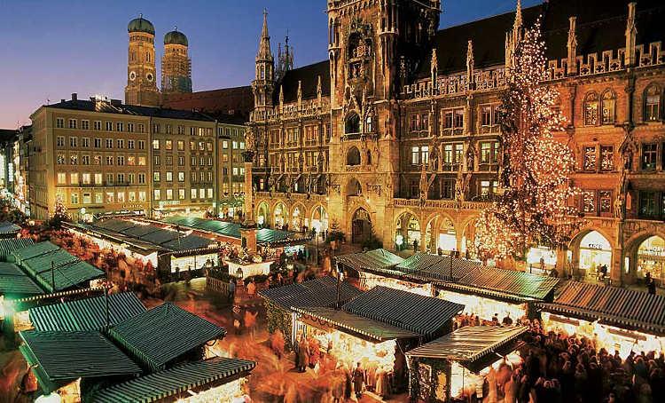 München Kerstmarkt Marienplatz