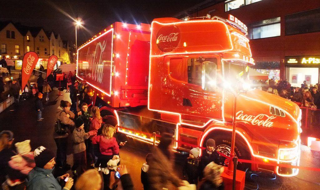 coca-cola truck kerst