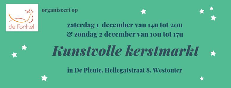 Kunstvolle Kerstmarkt Fonkel Westouter