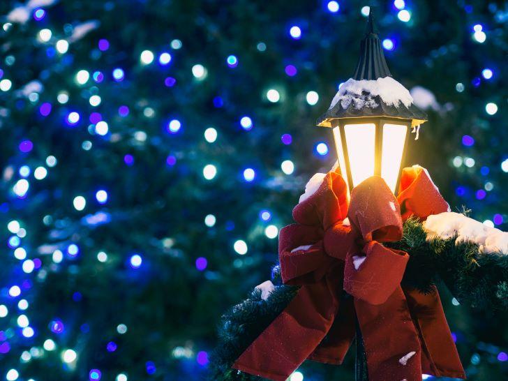led verlichting tijdens de kerst