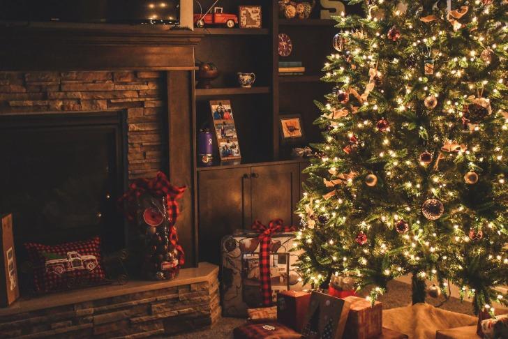 woonkamer kerst